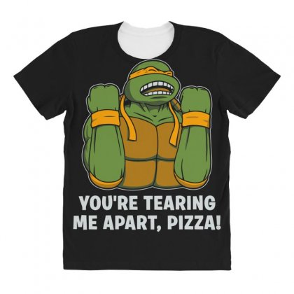 You're Tearing Me Apart Pizza All Over Women's T-shirt Designed By Andr1