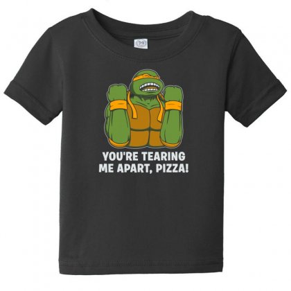You're Tearing Me Apart Pizza Baby Tee Designed By Andr1