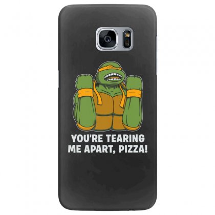 You're Tearing Me Apart Pizza Samsung Galaxy S7 Edge Case Designed By Andr1