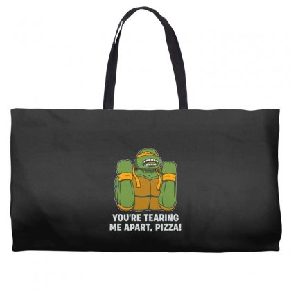 You're Tearing Me Apart Pizza Weekender Totes Designed By Andr1