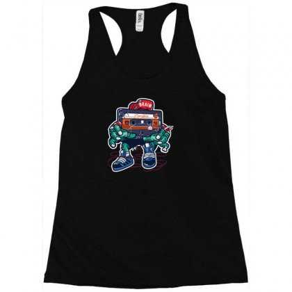 Zombie Cassette Tape Racerback Tank Designed By Andr1
