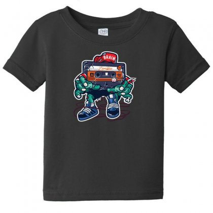 Zombie Cassette Tape Baby Tee Designed By Andr1