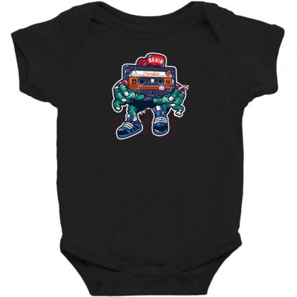 Zombie Cassette Tape Baby Bodysuit Designed By Andr1