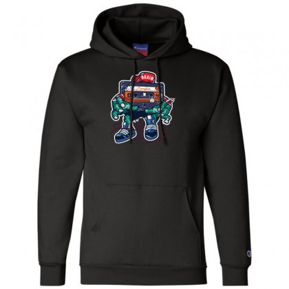 Zombie Cassette Tape Champion Hoodie Designed By Andr1