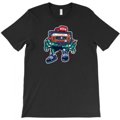 Zombie Cassette Tape T-shirt Designed By Andr1