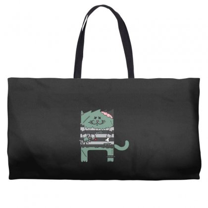 Zombie Cat Weekender Totes Designed By Andr1