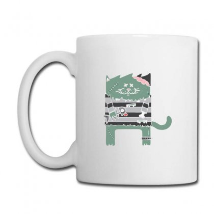 Zombie Cat Coffee Mug Designed By Andr1