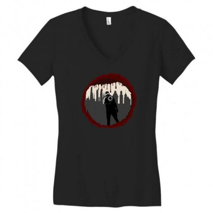 Zombie Control (shooter) Women's V-neck T-shirt Designed By Andr1
