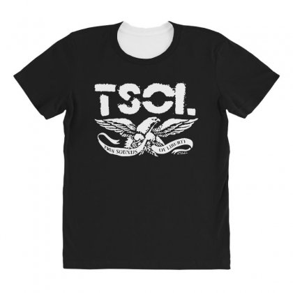 Tsol Eagle All Over Women's T-shirt Designed By Pinkanzee