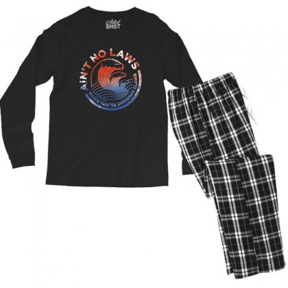 Trevor Wallace White Claw Men's Long Sleeve Pajama Set Designed By Pinkanzee