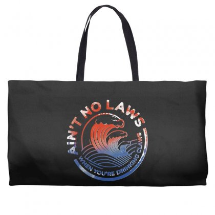 Trevor Wallace White Claw Weekender Totes Designed By Pinkanzee
