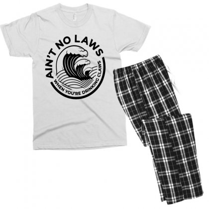 Trevor Wallace White Claw For Light Men's T-shirt Pajama Set Designed By Pinkanzee