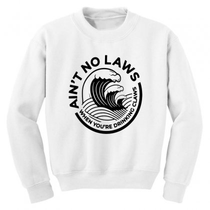 Trevor Wallace White Claw For Light Youth Sweatshirt Designed By Pinkanzee