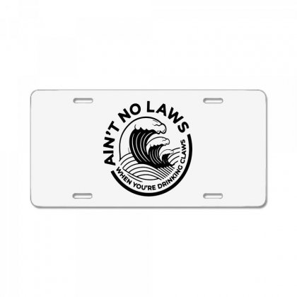 Trevor Wallace White Claw For Light License Plate Designed By Pinkanzee