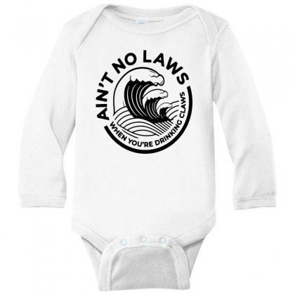 Trevor Wallace White Claw For Light Long Sleeve Baby Bodysuit Designed By Pinkanzee