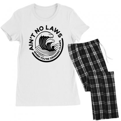 Trevor Wallace White Claw For Light Women's Pajamas Set Designed By Pinkanzee