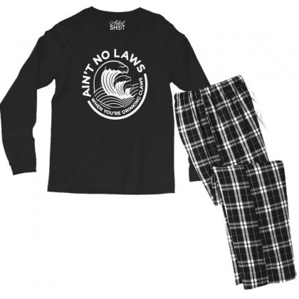 Trevor Wallace White Claw For Dark Men's Long Sleeve Pajama Set Designed By Pinkanzee
