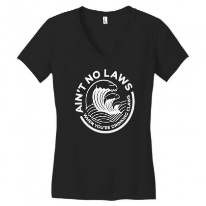Trevor Wallace White Claw For Dark Women's V-neck T-shirt Designed By Pinkanzee