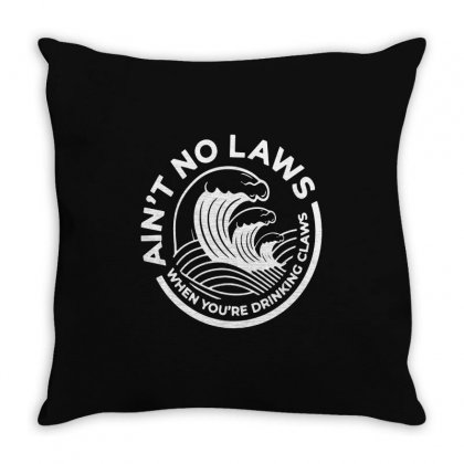 Trevor Wallace White Claw For Dark Throw Pillow Designed By Pinkanzee