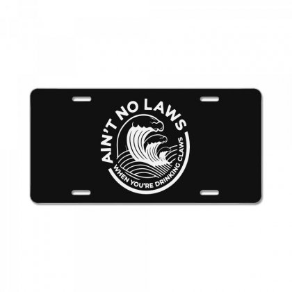 Trevor Wallace White Claw For Dark License Plate Designed By Pinkanzee