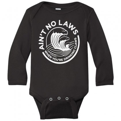 Trevor Wallace White Claw For Dark Long Sleeve Baby Bodysuit Designed By Pinkanzee