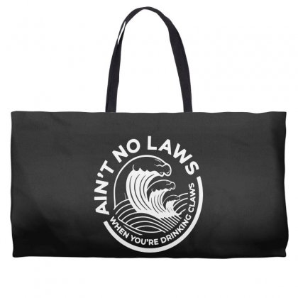 Trevor Wallace White Claw For Dark Weekender Totes Designed By Pinkanzee