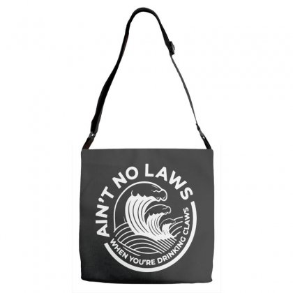 Trevor Wallace White Claw For Dark Adjustable Strap Totes Designed By Pinkanzee