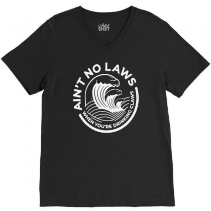 Trevor Wallace White Claw For Dark V-neck Tee Designed By Pinkanzee