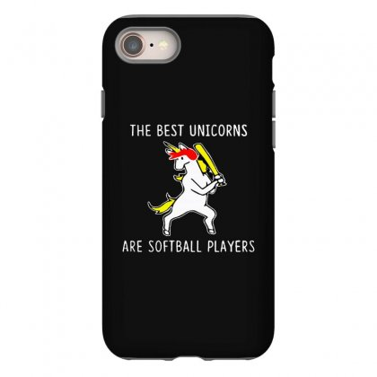 The Best Unicorns Are Softball Player Iphone 8 Case Designed By Pinkanzee