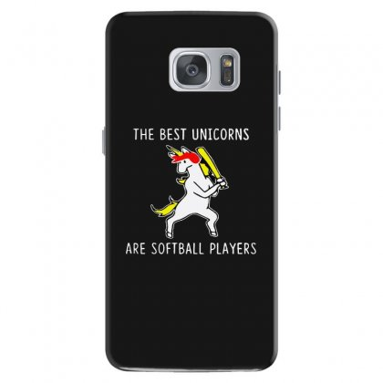The Best Unicorns Are Softball Player Samsung Galaxy S7 Case Designed By Pinkanzee