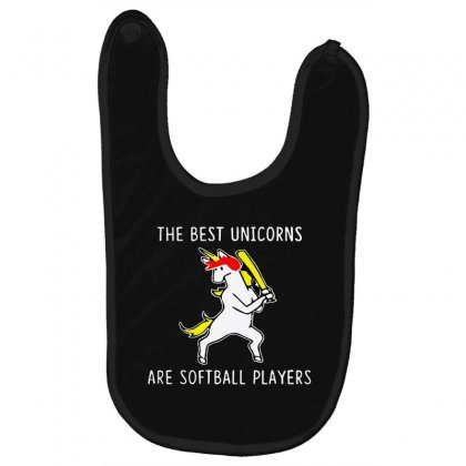The Best Unicorns Are Softball Player Baby Bibs Designed By Pinkanzee