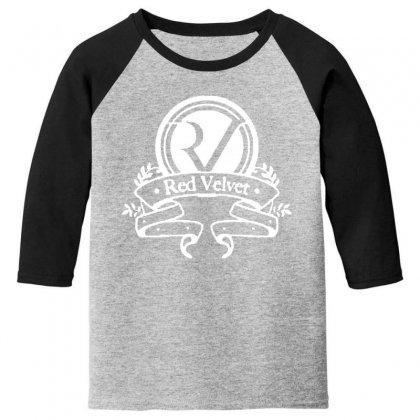 Red Velvet Rv Seal Youth 3/4 Sleeve Designed By Pinkanzee