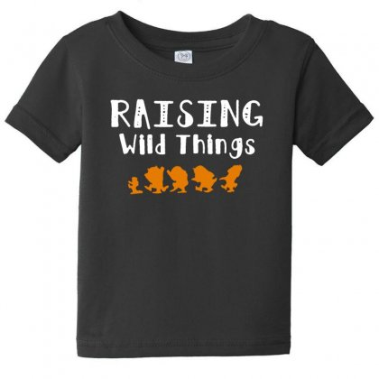 Raising Wild Things Baby Tee Designed By Pinkanzee
