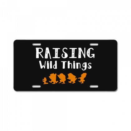 Raising Wild Things License Plate Designed By Pinkanzee
