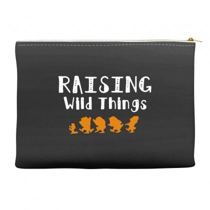Raising Wild Things Accessory Pouches Designed By Pinkanzee