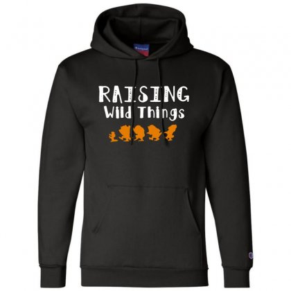 Raising Wild Things Champion Hoodie Designed By Pinkanzee