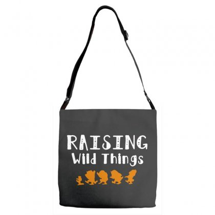 Raising Wild Things Adjustable Strap Totes Designed By Pinkanzee