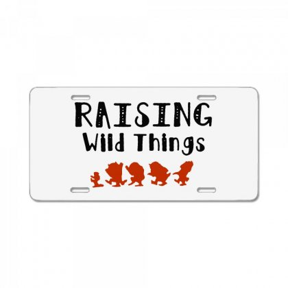 Raising Wild Things Hot License Plate Designed By Pinkanzee