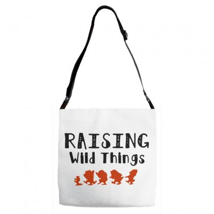 Raising Wild Things Hot Adjustable Strap Totes Designed By Pinkanzee