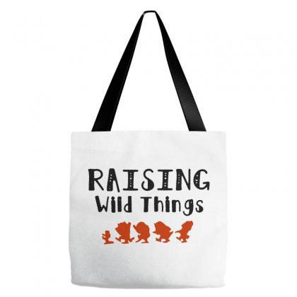 Raising Wild Things Hot Tote Bags Designed By Pinkanzee