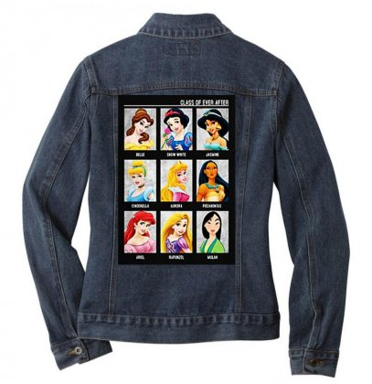 Princess Class Of Ever After Girls Ladies Denim Jacket Designed By Pinkanzee