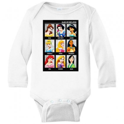 Princess Class Of Ever After Girls Long Sleeve Baby Bodysuit Designed By Pinkanzee