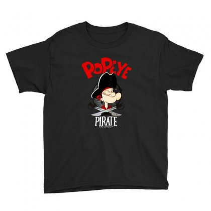 Popeye Goes Pirate Youth Tee Designed By Pinkanzee