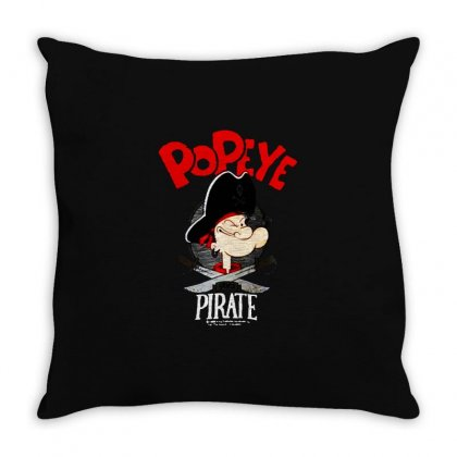 Popeye Goes Pirate Throw Pillow Designed By Pinkanzee
