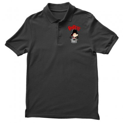 Popeye Goes Pirate Men's Polo Shirt Designed By Pinkanzee