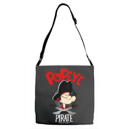 Popeye Goes Pirate Adjustable Strap Totes Designed By Pinkanzee