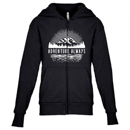 Outdoors Youth Zipper Hoodie Designed By Pinkanzee