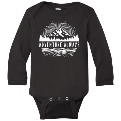 Outdoors Long Sleeve Baby Bodysuit Designed By Pinkanzee