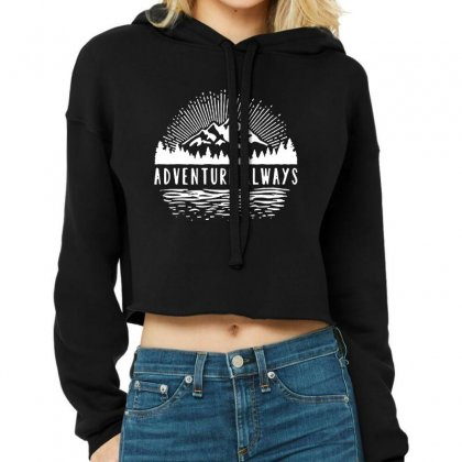 Outdoors Cropped Hoodie Designed By Pinkanzee