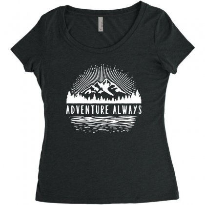 Outdoors Women's Triblend Scoop T-shirt Designed By Pinkanzee